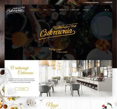 projekt strony dla restauracji