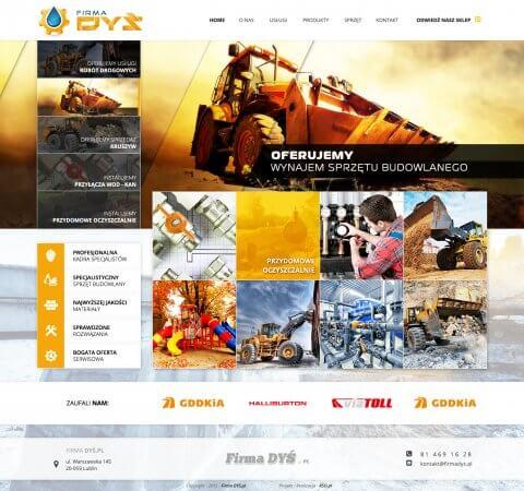strona www sprzęt budowlany
