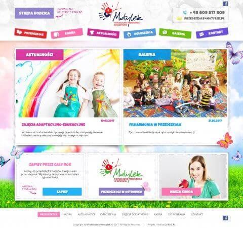projekt strony www dla przedszkola