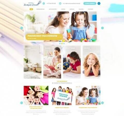 projekt strony www przedszkola
