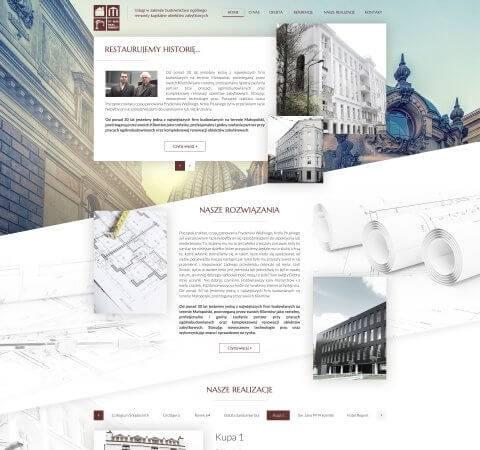 projekt strony www firmy budowlanej