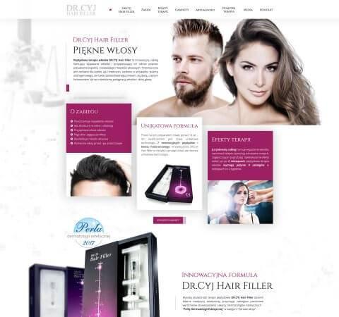 strona www dla zakładu fryzjerskiego