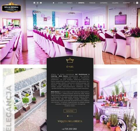 projekt strony sala weselna
