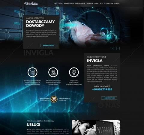 projekt strony dla detektywa