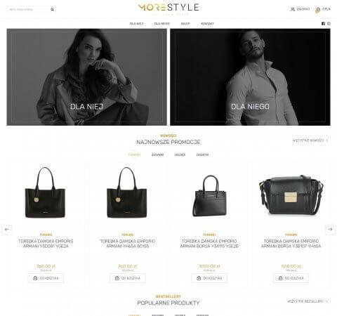 projekt sklepu internetowego morestyle